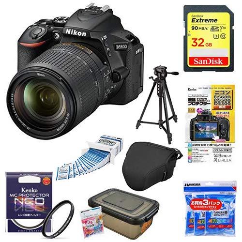 Nikon デジタル一眼レフカメラ D5600 18-140 VR レンズキット ブラック D5600LK18-140BK + アクセサリー8点セット(SDカード 32GB、液晶保護フィルム、レンズフィルター、カメラケース 、レンズクリーニングティッシュ、ドライボックス、乾燥剤、三脚)