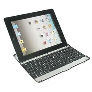 iPad2 bluetoothキーボード内蔵アルミケース 【USキーボード】 ブラック 日本語操作説明書付き Black