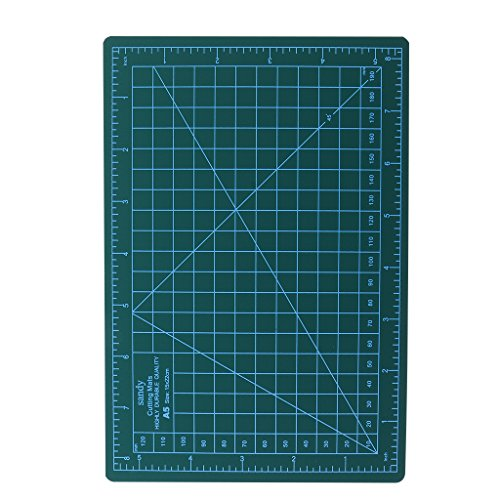 Lovoski 工作機械に対応 グリッドライン A5 カッティングマット カッティングボード 全5色 カード作成 - 緑
