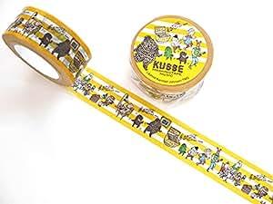 【KUMA】クマ キュッパマスキングテープ ミュージック kub-007