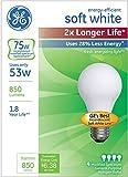 GE照明70335ハロゲンライト電球、ソフトホワイト、53ワット、4/パック