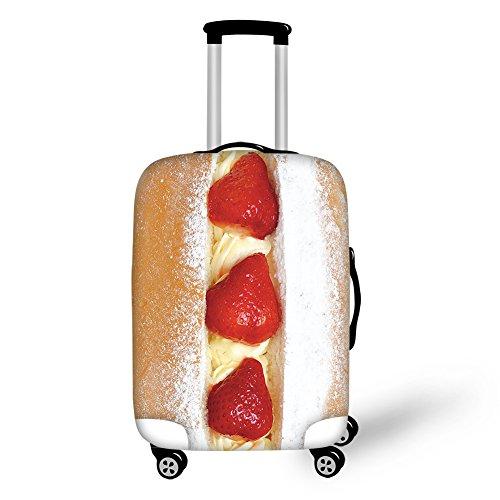 ThiKin スーツケースカバー 防水 洗える 伸縮素材 旅行 ケーキ イチ...