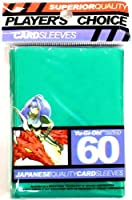 YuGiOh Players Choice 60 Count YuGiOh Size Japanese Quality Gaming Card Sleeves Green [並行輸入品]