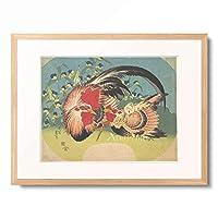 葛飾北斎 Katsushika Hokusai 「鶏」 額装アート作品