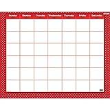 Polka Dots Red Wipe Off Calendar