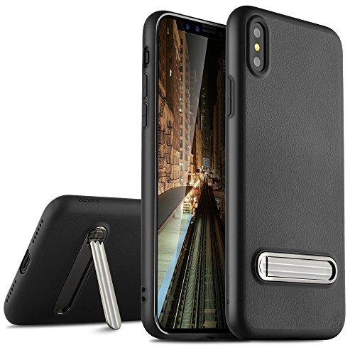 KuGi Iphone X ケース 超薄型 超軽量 耐衝撃 apple iphone X iPhoneX Edition高品質ソフト背面カバー 落下防止 防指紋 アイフォンX専用ケース ブラック
