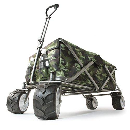 タンスのゲン 折りたたみキャリーワゴン 大型タイヤ * Raxus OFF ROAD * 108L カバー付き カモフラ柄 45600000 08AM