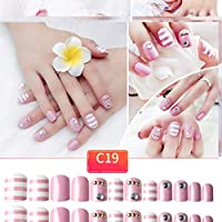 Nail Sticker Acrylic False Nail Fake Nail Art Fingernail Full Tips Solid Nail Patch Sticker