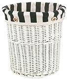 大橋新治商店 北欧風 ゴミ箱 ポルト Willow Basket ダストボックス ホワイト 21-627