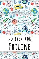 Notizen von Philine: Liniertes Notizbuch fuer deinen personalisierten Vornamen