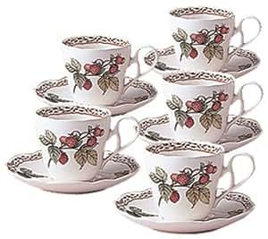 Noritake(ノリタケ) プリマチャイナ ロイヤルオーチャード コーヒー碗皿 5客 H89589/9416