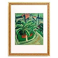 エルンスト・ルートヴィヒ・キルヒナー Ernst Ludwig Kirchner 「Platz in Halle」 額装アート作品