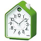 SEIKO CLOCK (セイコークロック) 目覚まし時計 ネイチャーサウンド アナログ 切替式アラーム PYXIS (ピクシス) 緑 NR434M