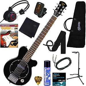 PIGNOSE アンプ内蔵エレキギター ヘッドフォン付きだから夜でも気兼ねなく弾ける 充実の12点セット PGG-200/BK(ブラック)