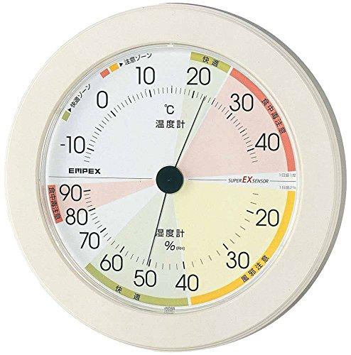 エンペックス気象計 温度湿度計 高精度ユニバーサルデザイン ...