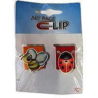 Myページクリップ–Bee andテントウムシ–イタリア設計メタルMagenticブックマーク