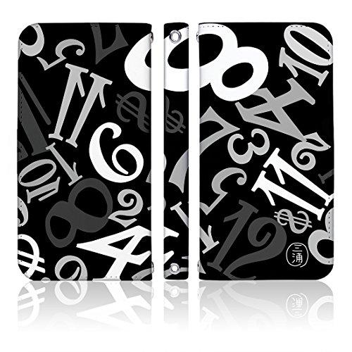 iPhoneX 手帳型 ケース [デザイン:16.モノクロブ...