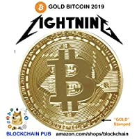 .999 Fine Gold Bitcoin Commemorative Round Collectors Coin - Bit Coin is Gold Plated Copper Physical Coin by BitCoin Shop [並行輸入品]