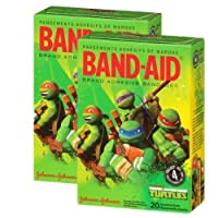 Band-aid Brand Teenage Mutant Nija Turtles - Nickelodeon 20 Count (Pack of 2) by Band-Aid