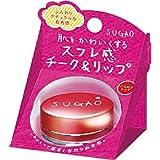 SUGAO スフレ感 チーク&リップ じんわりレッド 6.5g