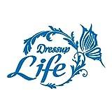 バタフライサークル Life ライフ カッティング ステッカー ブルー 青