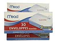 Mead #10 Envelopes, Press-it Seal-it, White, 30/box , 3 Pack by Mead
