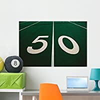"50-yard Line Footballフィールド壁壁画by Wallmonkeys Peel and Stickグラフィックwm120135 36""W x 24""H - Large COR-12922256-36"