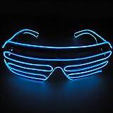 光る LED サングラス コスチューム用小物 ブルー 横14.5cm×縦5.6cm×奥行き15cm