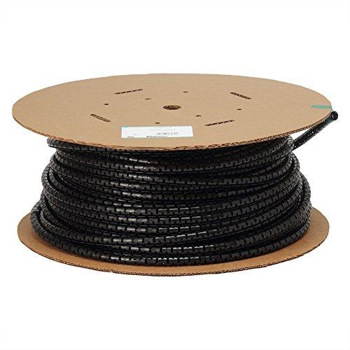 パンドウイット 電線保護チューブ スリット型スパイラル パンラップ 束線径18.3φmm 30m巻き 黒 PW75F-C20