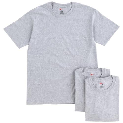 (ヘインズ)Hanes 【3枚組】クルーネックTシャツ HBJ1-001N-060 060 ヘザーグレー M