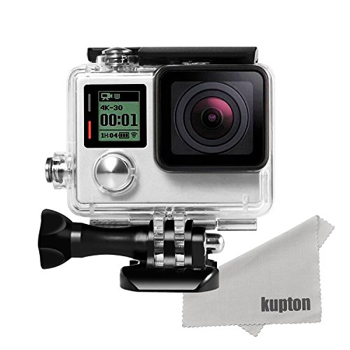 (カップテン)Kupton Gopro Hero 4 /Hero 3+ 防水ケース GoPro防水ハウジングケース 水中撮影 ウェアラブルカメラ用ケース ゴープロ ヒーロー Go Pro Hero4 Hero3+ アクセサリー
