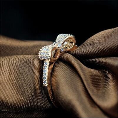 [해외]금속 알레르기 (탈색하지 링) 반지 약혼 반지 반지 선물 CZ 다이아몬드 세트 9 호 | 10 호 | 12 호 | 13 호 | 15 호 | 16 호 리본 반지 여성/Metallic allergy correspondence (color not falling ring) Yubawa engagement ring ring gift CZ diamon...