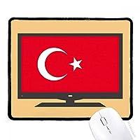 トルコの国旗のアジアの国のシンボルマークのパターン マウスパッド・ノンスリップゴムパッドのゲーム事務所