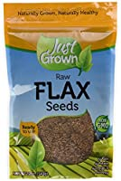 Just Grown Raw Flax Seeds Kosher 12-Ounce by Just Grown
