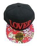 (ピーキー)Peigee LOVER ロゴ 花柄 キャップ 野球 帽 帽子 BBキャップ 花柄 B系 ストリート ファッション 男女兼用 ユニセックス レディース メンズ