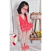 A-Y261 Lサイズ(5-7歳)女児水着 子供 水着 ラブリー  可愛い 女の子 みずぎ 韓国風水着