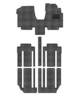Hotfield 日産 セレナ C27系 (ガソリン車) フロアマット 千鳥格子柄 千鳥グレー 【B:フロント一体:パーツ一体/超ロングスライド仕様】