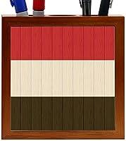 Rikki Knight Yemen Flag on Distressed Wood Design 5-Inch Wooden Tile Pen Holder (RK-PH8821) [並行輸入品]