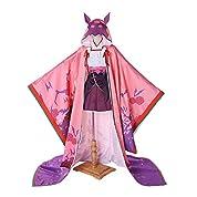 Fate/GrandOrder 刑部姫 靴下*手袋髪*飾り付き☆コスプレ衣装+ウィッグ