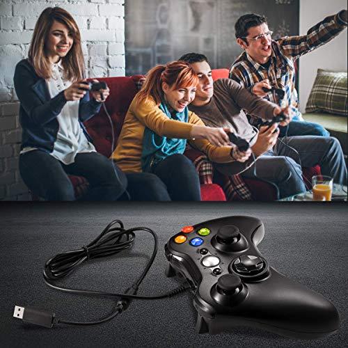 『XBOX360 コントローラー Blitzl PC コントローラー 有線 ゲームパッド ケーブル Windows PC Win7/8/10 人体工学 二重振動』の6枚目の画像
