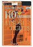 アツギタイツ(ATSUGI TIGHTS) 140デニール ブラック M~L 2足組 ×2個セット