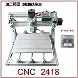 CNC 2418 卓状フライス ルーター ER11コレット v2.5 10個ドリル付き [並行輸入品]