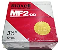 Maxell MF 2 DD Double Sided Double Density Double Tracks Floppy Disk 10 Pack [並行輸入品]