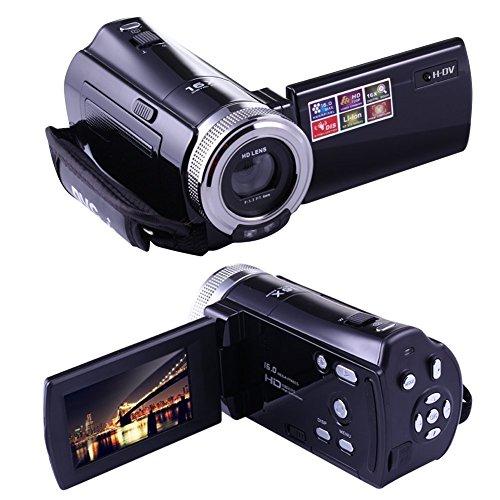 PowerLead ミニDV C8 16MP高精細デジタルビデオカメラDVR 2.7 'TFT LCD 16倍ズームHDビデオカメラ1280 x 720pデジタルビデオカメラ(黒)