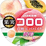 味覚糖 果実コロロ 白桃&パパイヤ袋 52g ×6袋