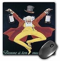 3drose LLC 8x 8x 0.25インチヴィンテージDonne A Ton mielleur Ami Liqueur広告ポスターマウスパッド(MP 129943_ 1)
