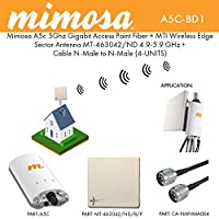 ミモザa5C 5GHz AP + MTIセクタアンテナmt-463042/ ND 5.9GHz +ケーブルn-m / n-m 4-パック