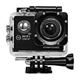 ICONNTECHS IT(JP) WIFI 30m防水 フルHD 1080Pスポーツ アクションカメラ 2インチ液晶画面 14MP 170度広角レンズ ウェアラブル HDMIビデオカメラ 豊富なアクセサリー付属 エクストリームスポーツ等に最適(黑)