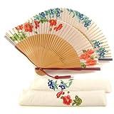 扇子女性用ほの香(扇子袋付き)秋明菊/りんどうりんどう母の日ギフトレディース