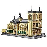 パリのノートルダム大聖堂 ノートルダム寺院 知育玩具 世界の名建築シリーズ ダイヤモンド ブロック おもちゃ 1380PCS アオハウオ(AWHAO) 立体パズル 木製 3Dパズル 知恵玩具 積み木 クラフト DIY組立 男の子 女の子 おもちゃ
